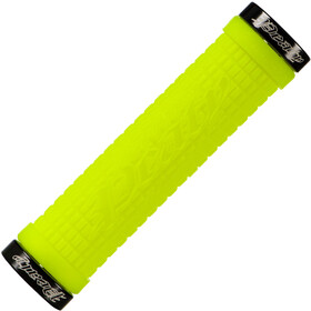 Lizard Skins Peaty Cheers Lock-On Chwyty rowerowe - gripy, neon black